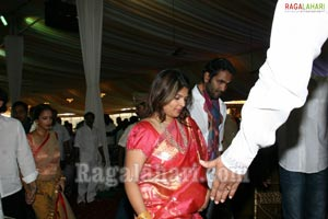 Sabitha Indra Reddy Son Karthik Reddy-Lakshmi Sravanthi Wedding Function