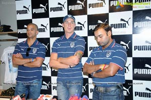 Deccan Chargers Team at Puma Store