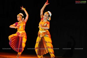 Divya Nair & Geetha Poojitha Bharatanatyam Arangetram at Ravindra Bharathi, Hyd