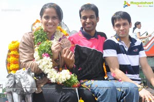 Saina Nehwal back from London Olympics 2012