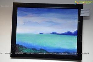 Suman at Snehalatha Painting Exhibition