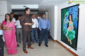 Suman at Snehalatha Painting Exhibition