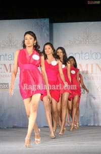 The final 11 Pantaloons Femina Miss India South 2010 contestants unveiled at Hyderabad International Convention Centre