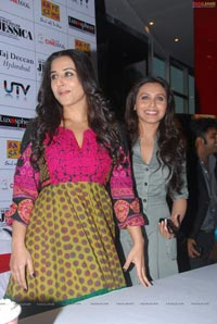 Rani Mukherjee and Vidya Balan at Cinemax, Hyderabad