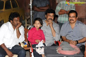 Megastar on Naayak Sets