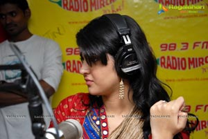 Manoj Manchu and Deeksha Seth at Radio Mirchi