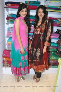 Annie and Kushboo at Paree Suits and Sarees Curtain Raiser Photos