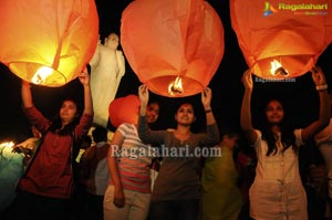 Flying Sky Lanterns Pre Guinness Event