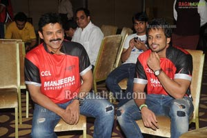 Celebrity Cricket League Telugu Warriors Logo Launch