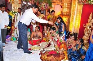 Production Controller Mohan Rao Elder Daugher Vineela Rekha Wedding Photos