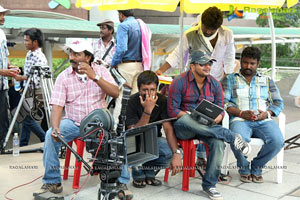 Srikanth, Vidhisha in Devaraya Working Stills