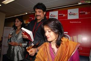 Nagarjuna-Amala Launchesthe Book 'Blossom Showers' by Giselle Mehta